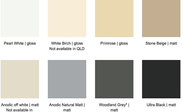 Trend Doors And Windows Standard Colours For Powder