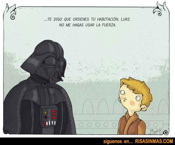 Luke, no me hagas usar la fuerza...