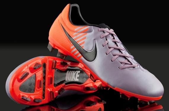 Nike Football Boots - Nike Total 90 Laser Elite - Soccer Shoes - Firm Ground - Silver / Orange