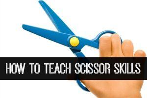Tips for teaching scissor cutting skills in your preschool or kindergarten classroom.