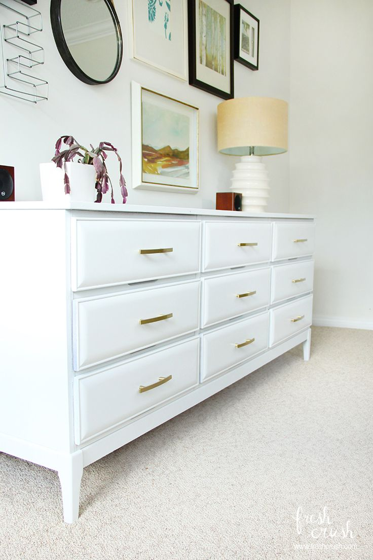 Living Room Console Table Makeover With A Bonus Trick On Installing Drawer Hardware The