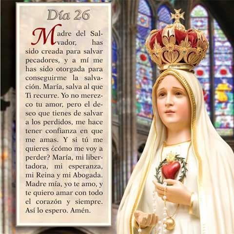 Mayo 26 Mes de nuestra Santisima Virgen Maria