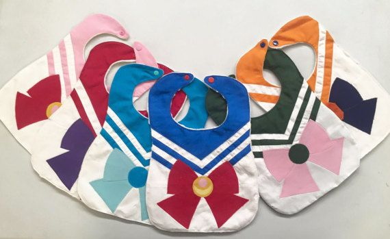 NEW Sailor Moon Baby Bib Anime by BensonsBoutique on Etsy
