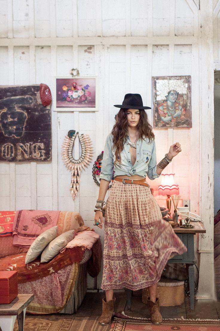 Posy Tie Side Skirt - Melissa Luna