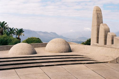 Taalmonument, Paarl, South Africa designed by Jan Van Wijk, completed in 1975  The Afrikaans Language Monument, officially opened on 10 October 1975. It commemorates the semicentenary of Afrikaans being declared an official language of South Africa separate from Dutch