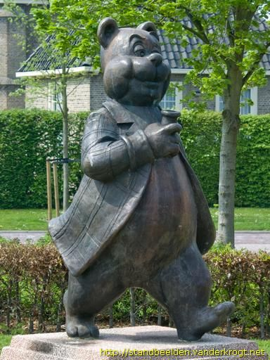 Famous Dutch cartoon figure Olivier B. Bommel by Harr Wiegman, Kon. Emmaplein, Den Bommel.
