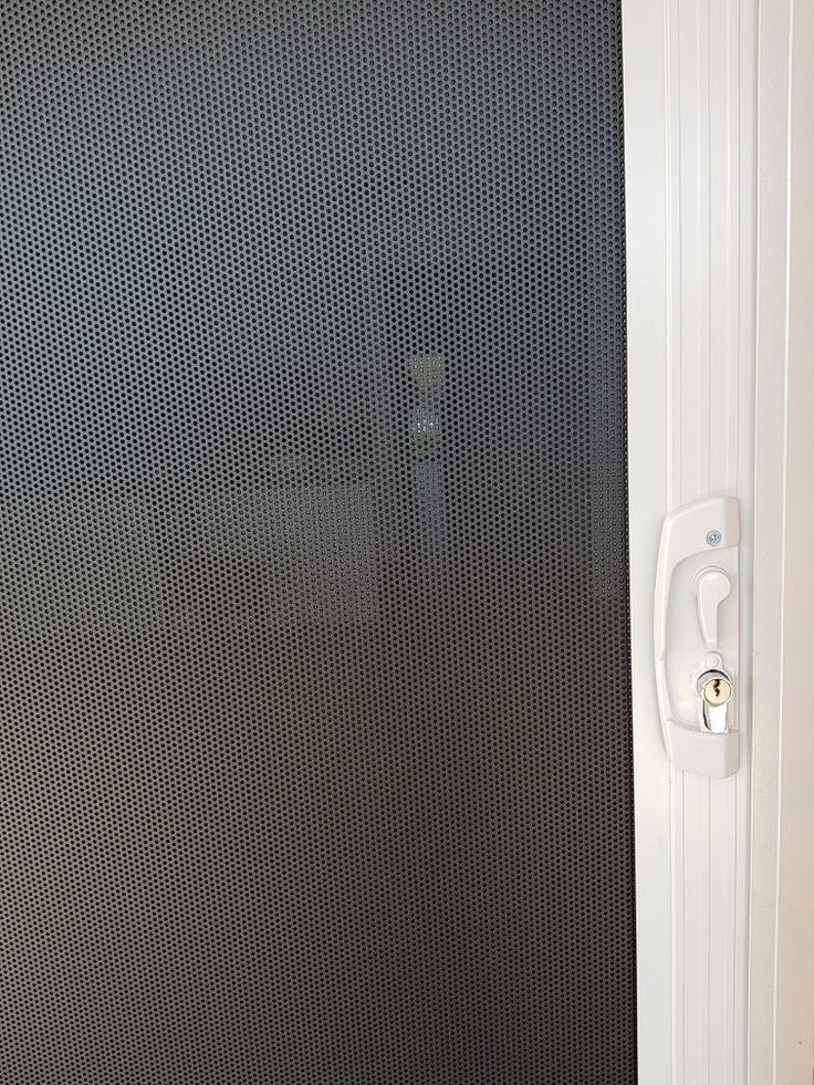 Security sliding door  with austral lock  www.flyscreensaustralia.com.au