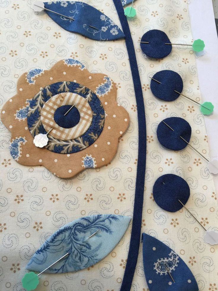 Making Applique Flowers with turned edges using Freezer Paper Templates. (Part Two)