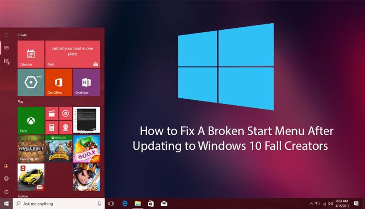 If you have recently updated to Windows 10 Fall Creators and your start menu has suddenly stopped working. This guide will show you several possible fixes you can use to get your system back up and running as it should be.   ✅ #windows #fallcreatorsupdate #FallCreators +Downloadsource.net