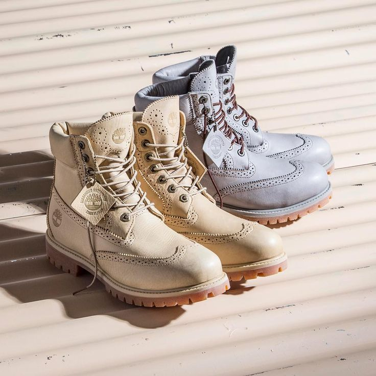 We're putting spring vibes out in the air with these boots. Warm, spring colors mixed with classic boot style.  Shop the men's Brogue boots on Timberland.com. #Timberland #ModernTrail