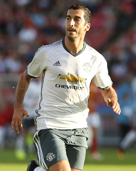 Henrikh Mkhitaryan of Manchester United in action during the preseason friendly match between Manchester United and Galatasaray at Ullevi on July 30, 2016.