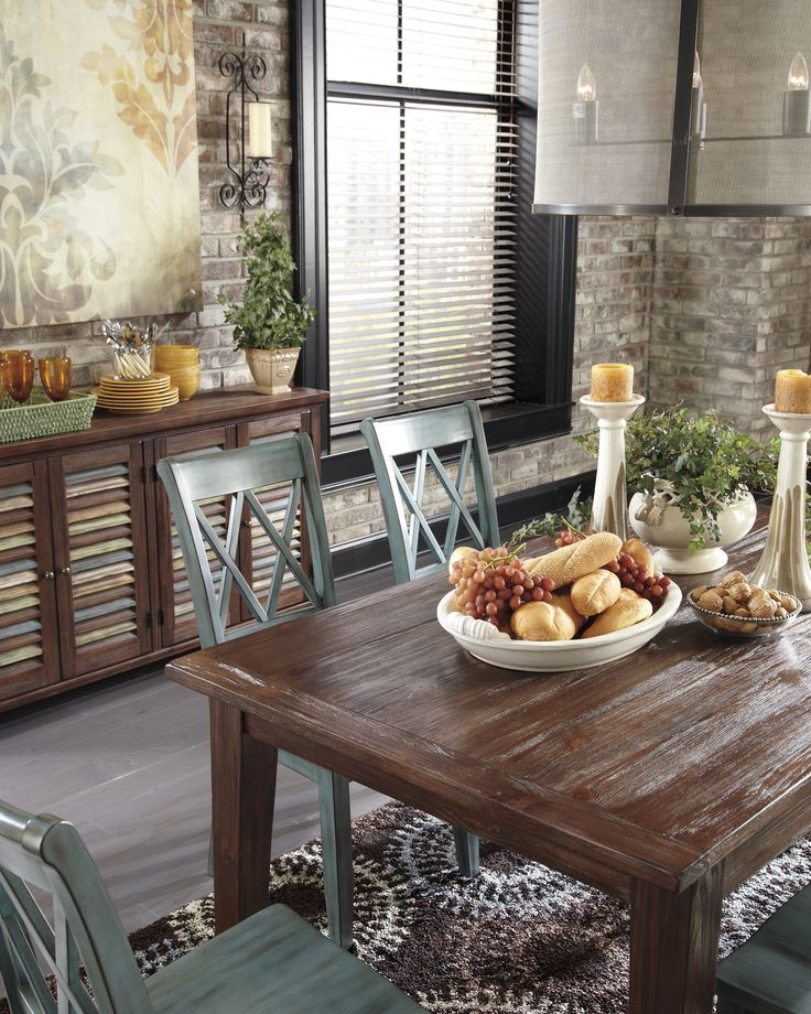 Brown Mestler Dining Room Table By Ashley Furniture