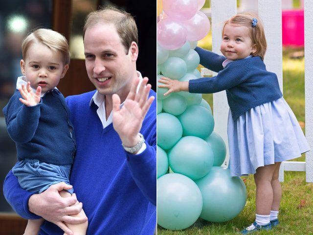 ジョージ・アレクサンダー・ルイ王子(Prince George Alexander Louis)、ウィリアム王子(Prince William)、シャーロット王女(Charlotte Elizabeth Diana of Cambridge) photo : Getty Images