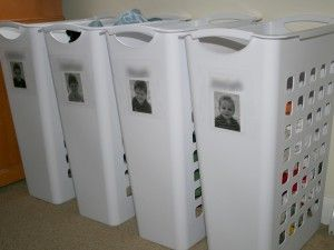 One way to manage a large family's laundry... not sure it would work for me, but considering it.