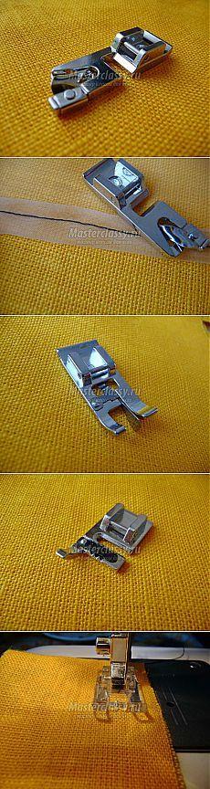 Использование лапок к швейным машинам. Мастер-класс с пошаговыми фото