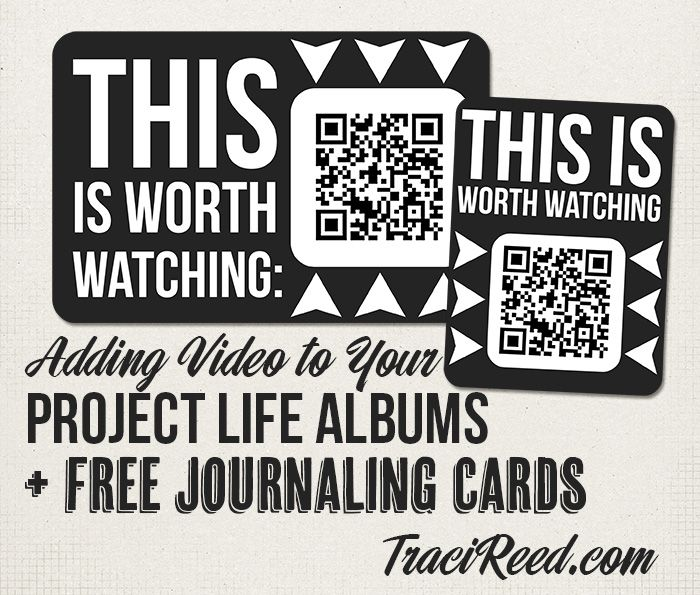 Adding Video To Project Life & Free Journaling Cards | [ One Velvet Morning ]