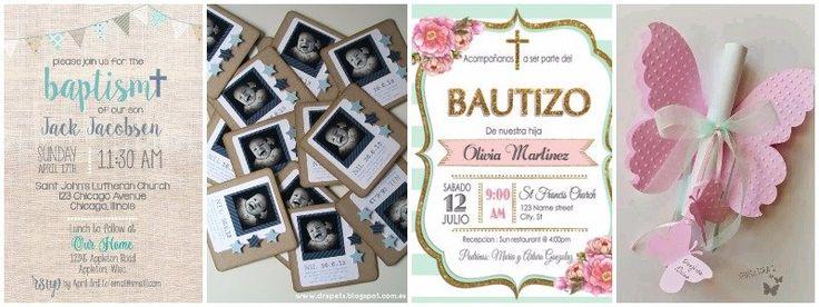 I➨I➨ Ideas para organizar un bautizo. Invitaciones, menú, decoración y recuerdos para los invitados.