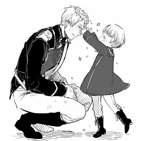 Little germany and prussia, Done by PixIV artist: 甘噛 member ID: 3548105