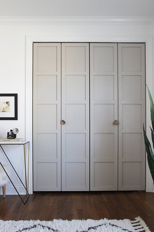 12 Easy Closet Door Upgrades via Brit   Co - Shaker-Style Upgrades: Standard lumber is all it takes to recreate Shaker style. (via Room for Tuesday)