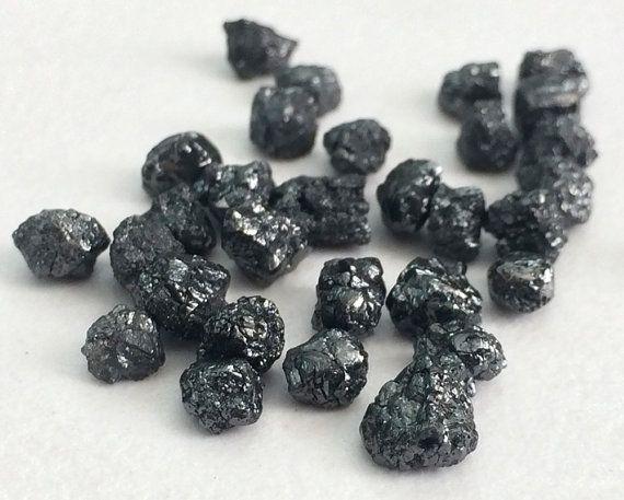 WHOLESALE 100 Pcs Black Diamonds Black Rough by gemsforjewels