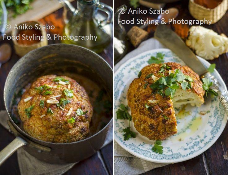 The Green Paprika & Paprika: Cavolfiore arrostito al forno con salsa di yogurt