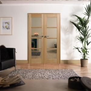 Internal Oslo Oak 4 Light Glazed Pre-Finished Room Divider - MODA DOORS