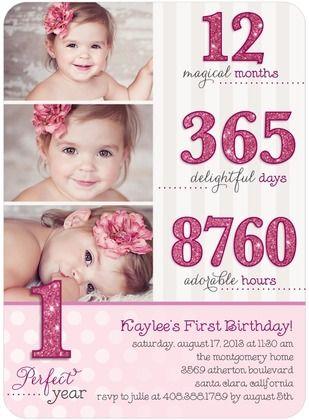 Birthday Party Invitations Birthday Breakdown - Front : Raspberry