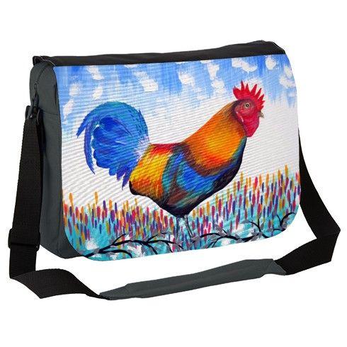 Whimsical Rooster Messenger Bag