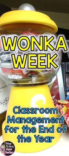 Looking for a fun classroom management solution to motivate your elementary students during the craziest times of the school year? Try Wonka Week! Perfect for teachers in 2nd, 3rd, & 4th grade classrooms to use before holiday breaks or the end of the school year. Read Charlie and the Chocolate Factory and plan some candy-themed math & science activities for Wonka Week learning fun! Click for FREE Golden Ticket and candy math printables + candy themed activity ideas. #education #endoftheyear