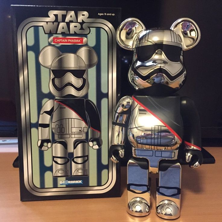 Medicom 400% Bearbrick ~ 2016 Exhibition Be@rbrick Star Wars Captain Phasma #Medicom