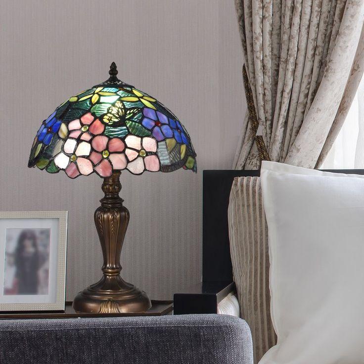 Dale Tiffany Fox Peony Tiffany Table Lamp - STT16081