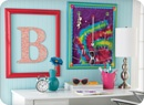 nice for tween room: Frames Letters, Frames Monograms, Cute Idea, Ties Dyes, Open Frames, Jewelry Holders, Monograms Decoration, Girls Rooms, Open Back