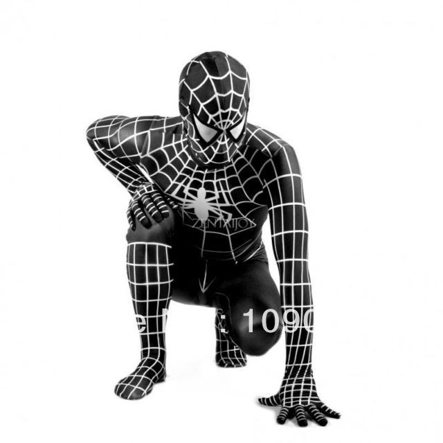 Ultimate Edition: Adult Spiderman Lycra Black 'Venom' Body Suit Fancy Dress Costume -in Costumes from Apparel & Accessories on Aliexpress.co...