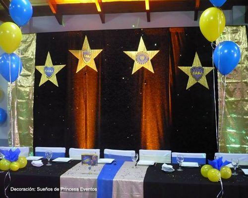 Fiesta de 15 años Temática Boca Juniors decoracion