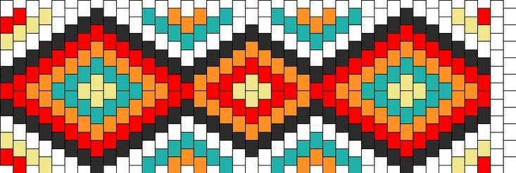 Aztec Design Kandi Pattern