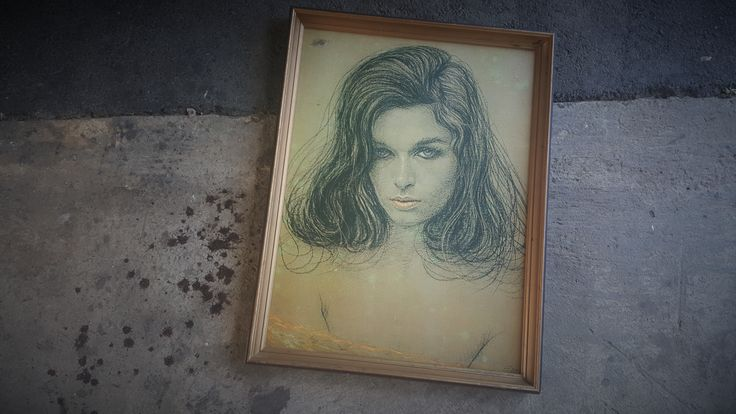 1970s retro art beauty