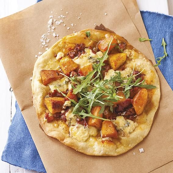 Butternut, Gorgonzola & bacon pizza | Botterskorsie-Gorgonzola-en-spek-pizza