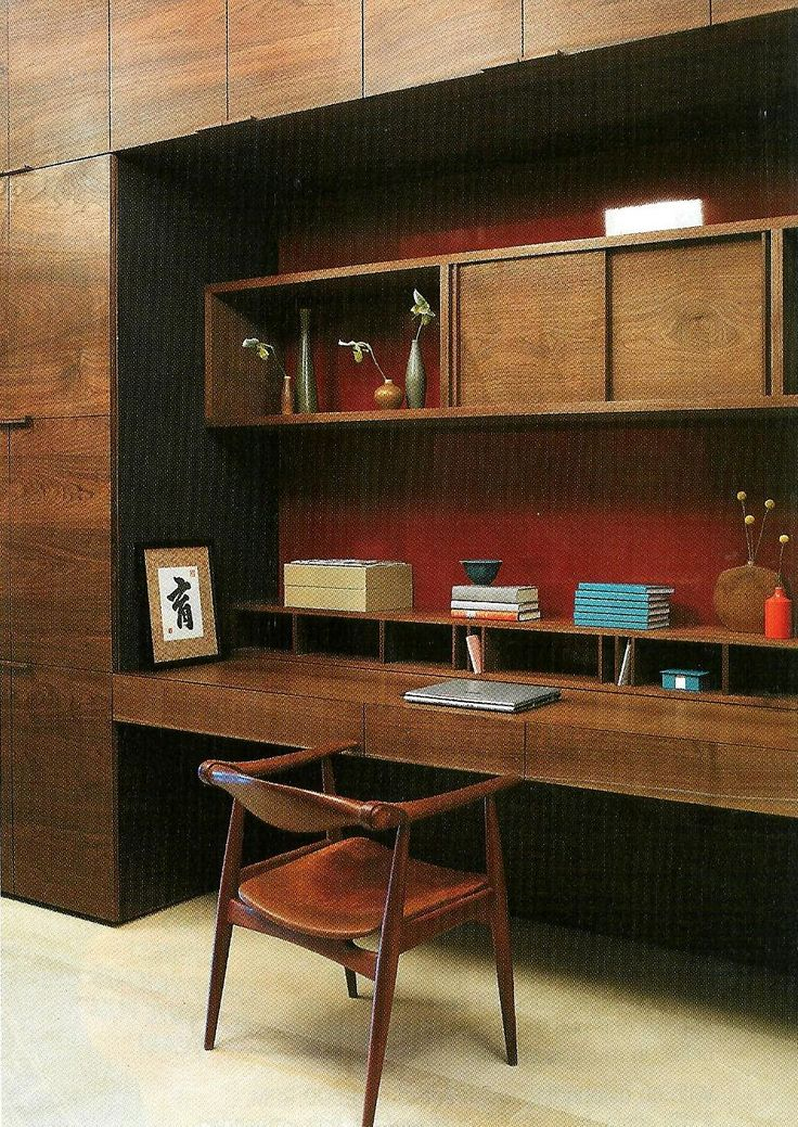 great look for a modern mid century home office