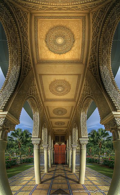 Moroccan Pavillion, Putrajaya, Malaysia, how to incorporat some detail like this