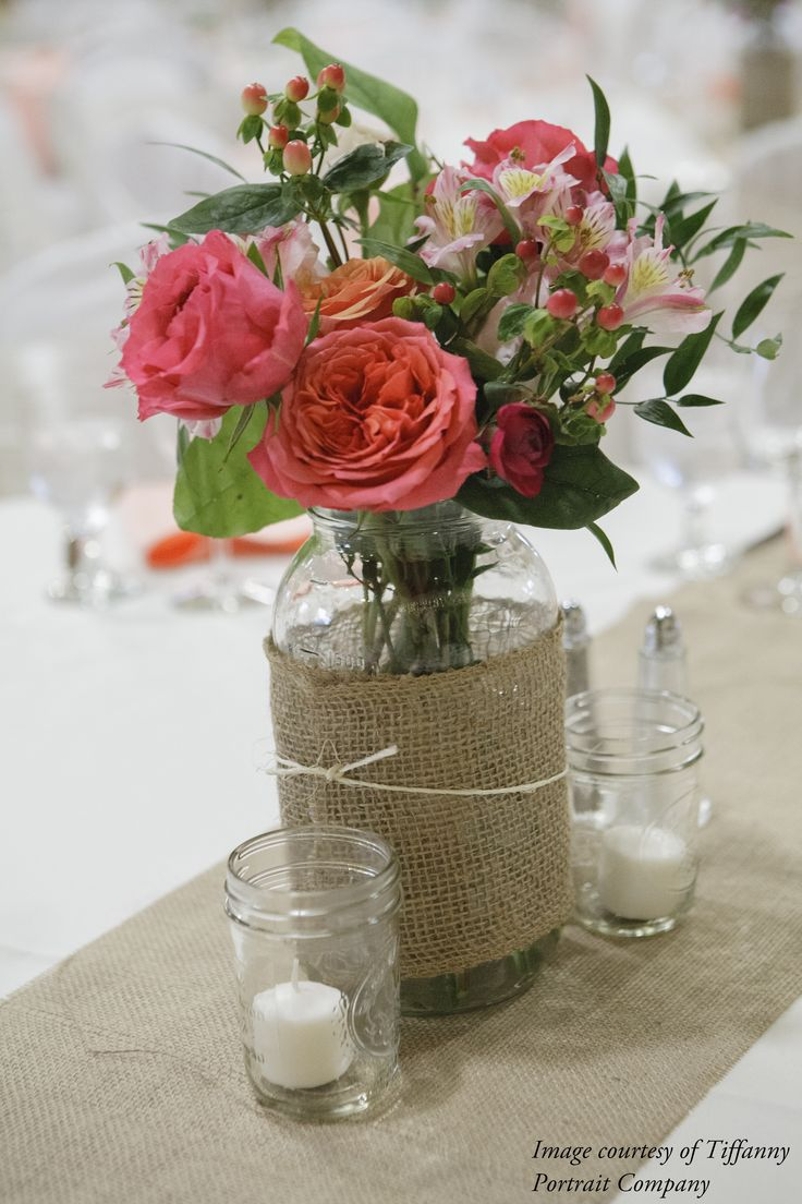 mason jar centerpiece. Mason Jar CenterpiecesWedding Flower ...