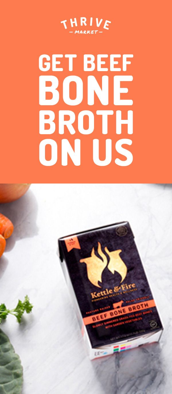 Get your free box of nutritious, paleo-friendly bone broth at Thrive Market! On a mission to make healthy living easy and affordable for everyone, Thrive Market offers premium, organic foods and healthy products up to 50% off every day with delivery right to your door. Get your free box today while supplies last, and start saving!