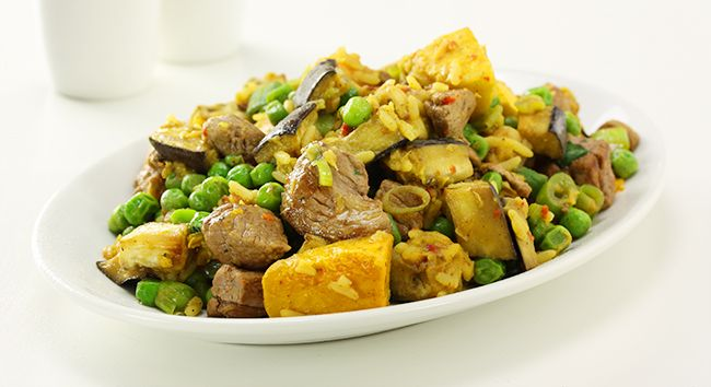 Lamb with Curried Rice and Lentils | Tony Ferguson Weightloss Program