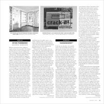 """Wolf Jahn on """"Aussendienst"""" - artforum.com / in print"""