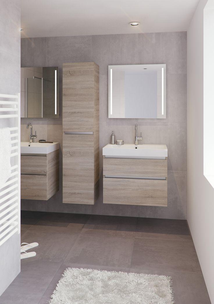 Wandtegels Badkamer Nl ~ Bruynzeel Pinto 75 cm bardolino  badmeubel kolomkast badkamer