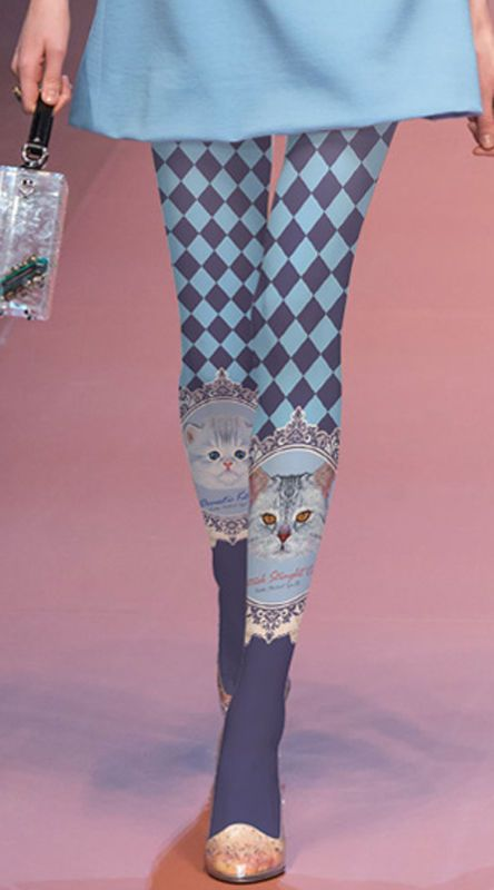 4ccabacc863 Unique Harajuku Japanese Cute Cat Harlequin Blue Purple Opaque Tights  Pantyhose