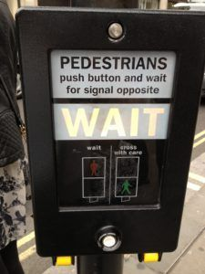 FlashPIC #27: Push Button at Pedestrian Crossing | Author Sandra Danby blog | writing