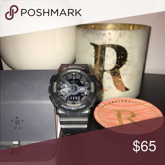 HOST PICK!!!   Men's Black G-Shock Watch Used once. Original battery. G-Shock Accessories Watches