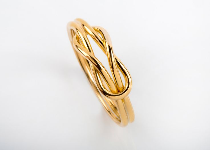 14K / 18K Solid Gold, Infinity Knot Ring, Gold Wire Ring, Infinity Gold Ring, Promise Ring, Engagement Band, Alternative Wedding, Custom Jewelry Manufacture, Goldsmith Workshop, Danelian, Jewelry