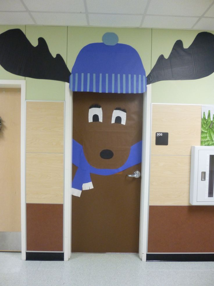 Merry Chris-moose from my classroom! Winter door decorations from 2013; Classroom door decorations