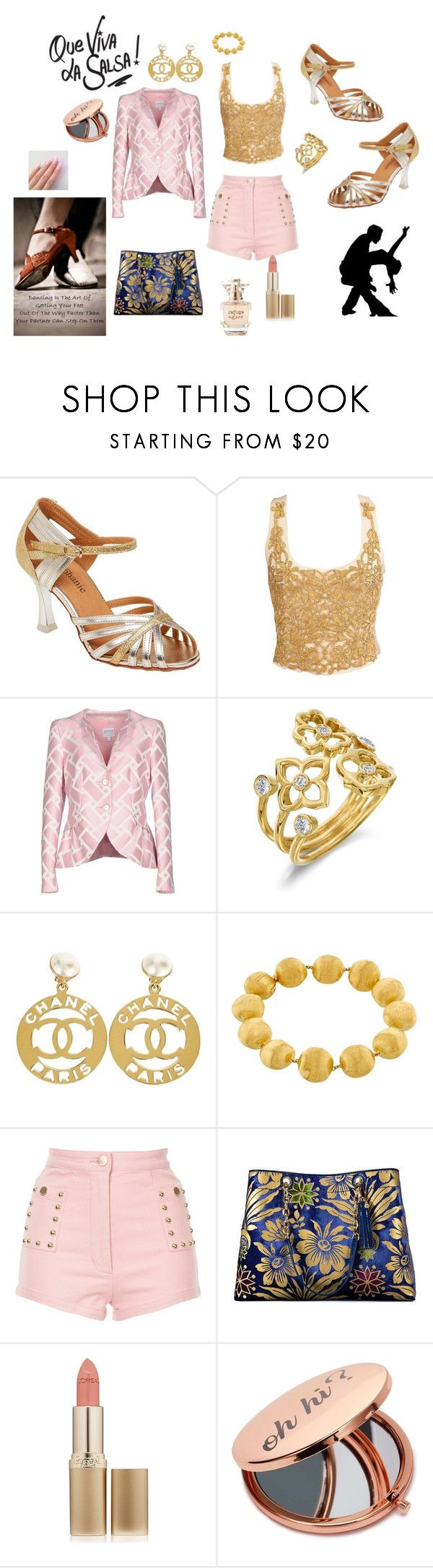 """que vive la salsa"" by vincenza-adamo ❤ liked on Polyvore featuring Salsa, Armani Collezioni, Gumuchian, Chanel, Marco Bicego, Alice McCall, Tory Burch, L'Oréal Paris, Miss Selfridge and Refuge"